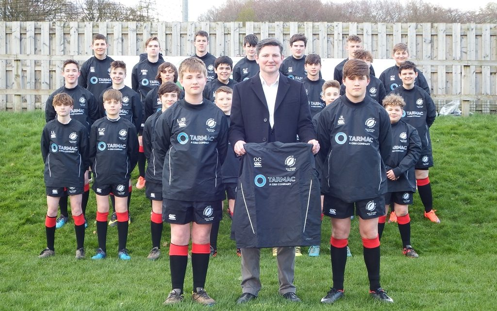 Tarmac support boosts young Berwickshire Rugby Team