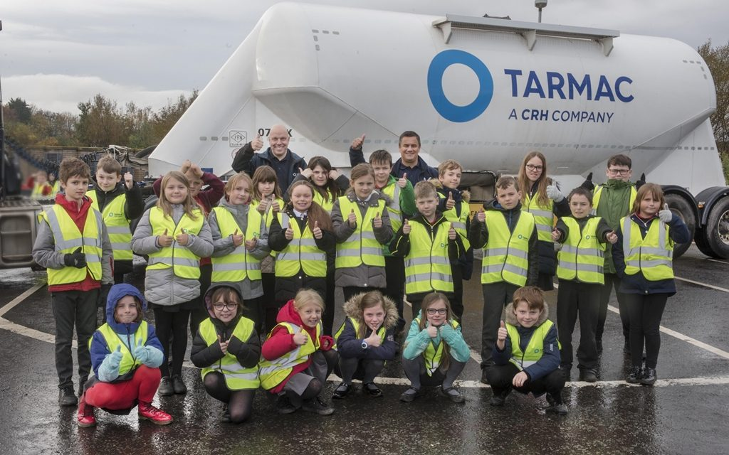 Lorry drives home safety messages for Dunbar school children