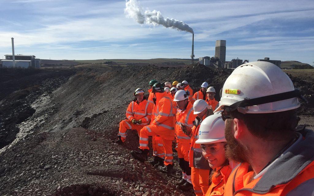 Derby University students head north to enjoy Dunbar Quarry tour