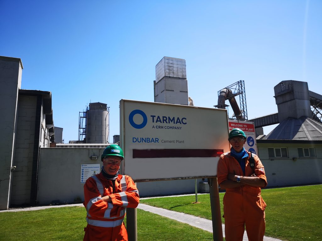 TWO EMPLOYEES CLOCK UP 90 YEARS  CEMENT PLANT SERVICE