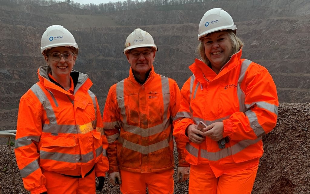MP Jane Hunt visits Mountsorrel Quarry