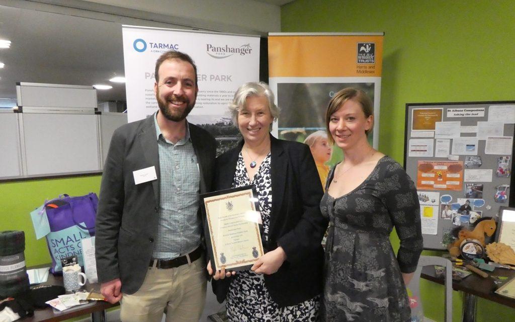 Panshanger Park partnership recognised at High Sherriff Awards