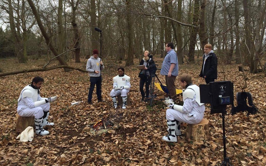 Science-fiction filming at Panshanger Park