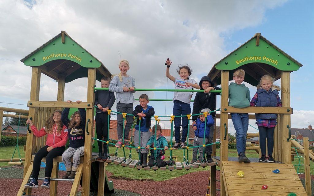 Tarmac Landfill Communities Fund support Besthorpe playground renovation