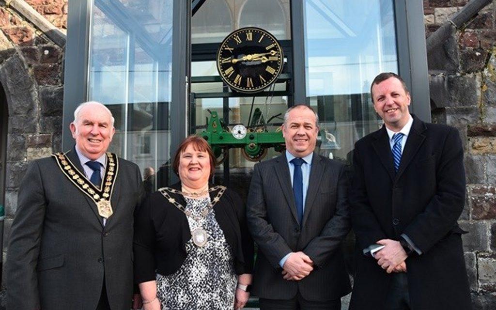 Tarmac returns historic Victorian 'timekeeping clock' to Carmarthenshire village
