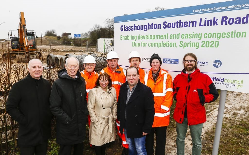 Work by Tarmac begins on Glasshoughton Southern Link Road in West Yorkshire
