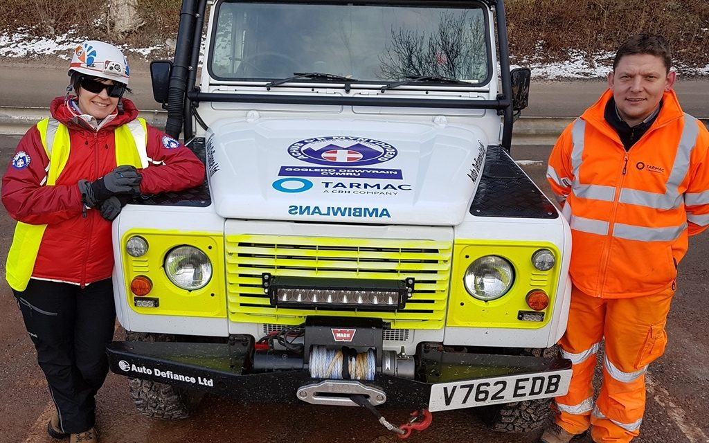 Tarmac donates £25,000 to North East Wales Search & Rescue