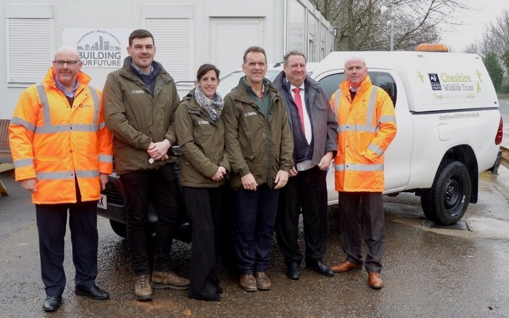 Tarmac work with Cheshire Wildlife Trust to create new home for wildlife