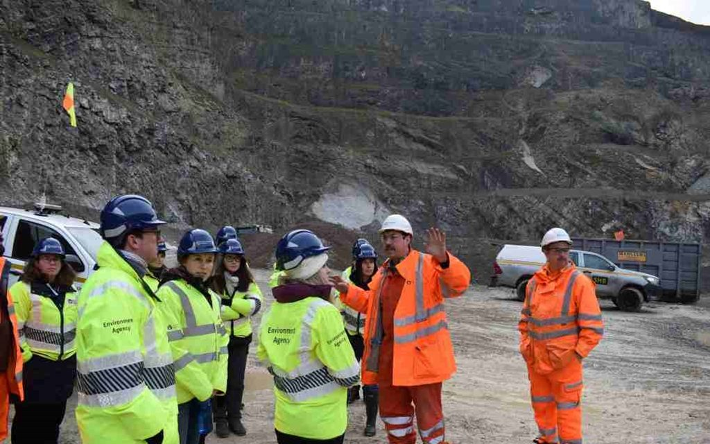 Tarmac hosts visit to Swinden Quarry from the Environment Agency