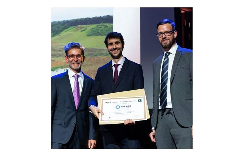 Tarmac scoops European Aggregates Associations Sustainable Development Awards