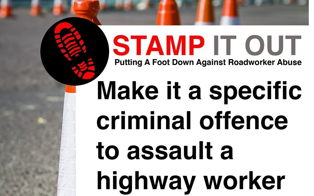 Tarmac supports 'Stamp it out' campaign to protect our roadworkers