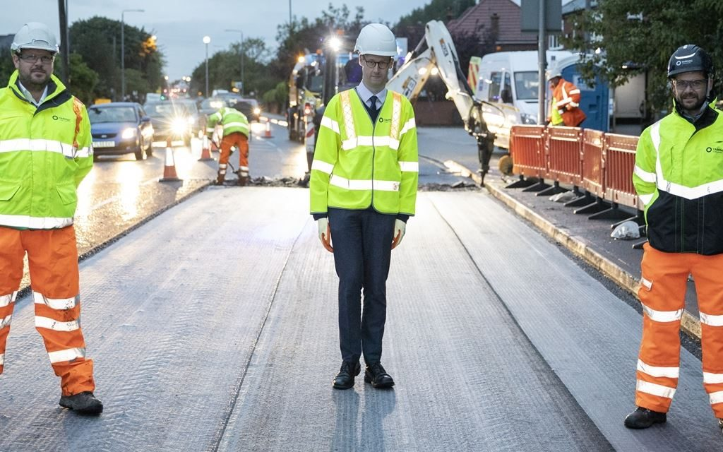 Tarmac welcomes Nottinghamshire MP to highlight UK's leading recycling track record
