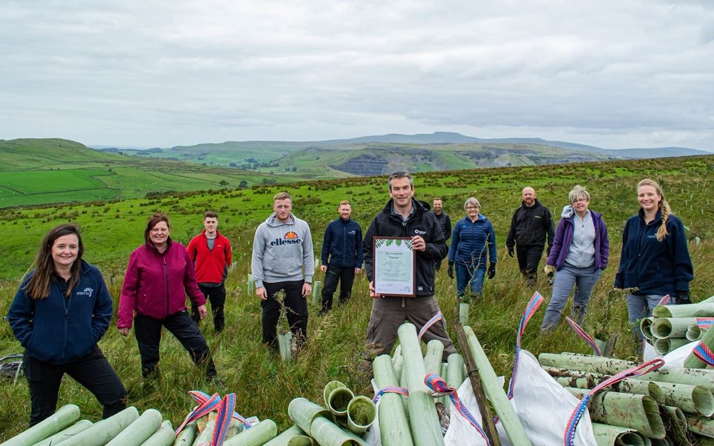 Woodland clean-up kick-starts Tarmac partnership with the Yorkshire Dales Millennium Trust
