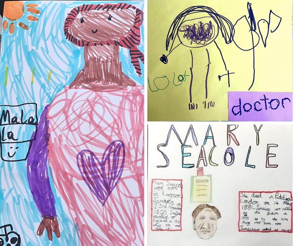 Tarmac kids get creative to mark inspirational women