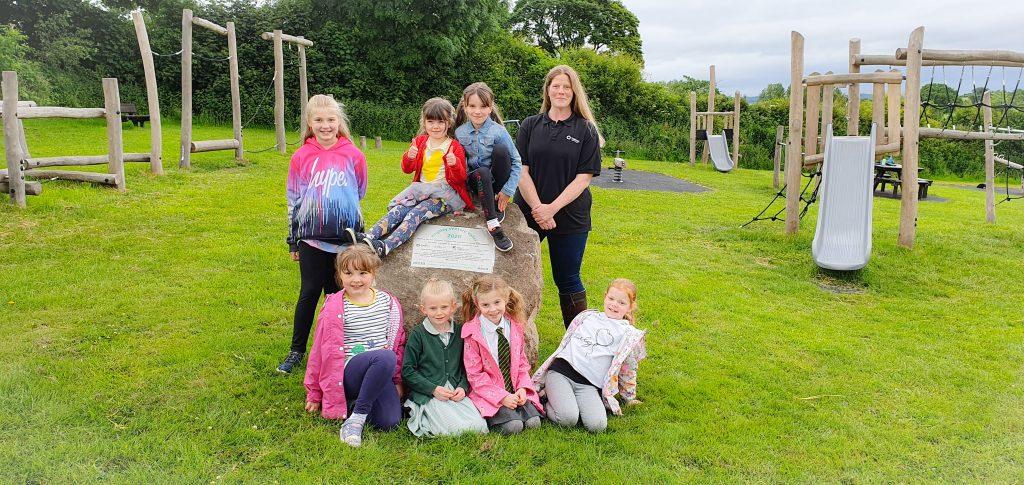 Children enjoy new playground thanks to the Tarmac Landfill Communities Fund