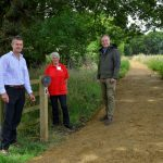 The British Horse Society officially re-open Hampshire bridleway after receiving funding from the Tarmac Landfill Communities Fund