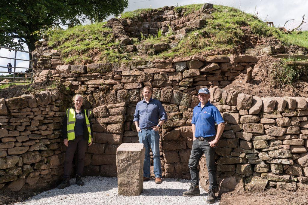 Historic Derbyshire lime kiln restored to former glory