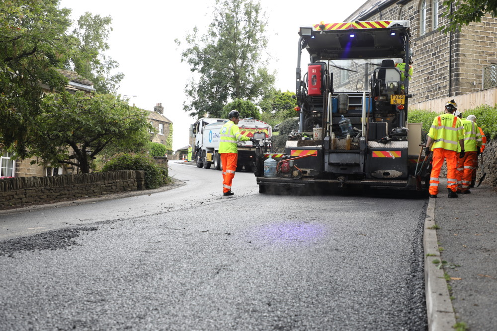 Our recycled rubber asphalt used for the first time in West Yorkshire