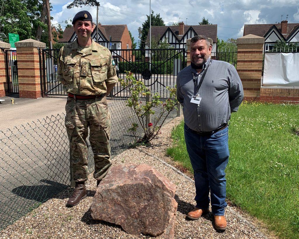 Mountsorrel Quarry donates memorial stone to Loughborough Army Reserve Centre