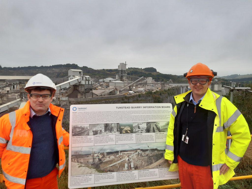 High Peak MP visits Tarmac's Tunstead Quarry