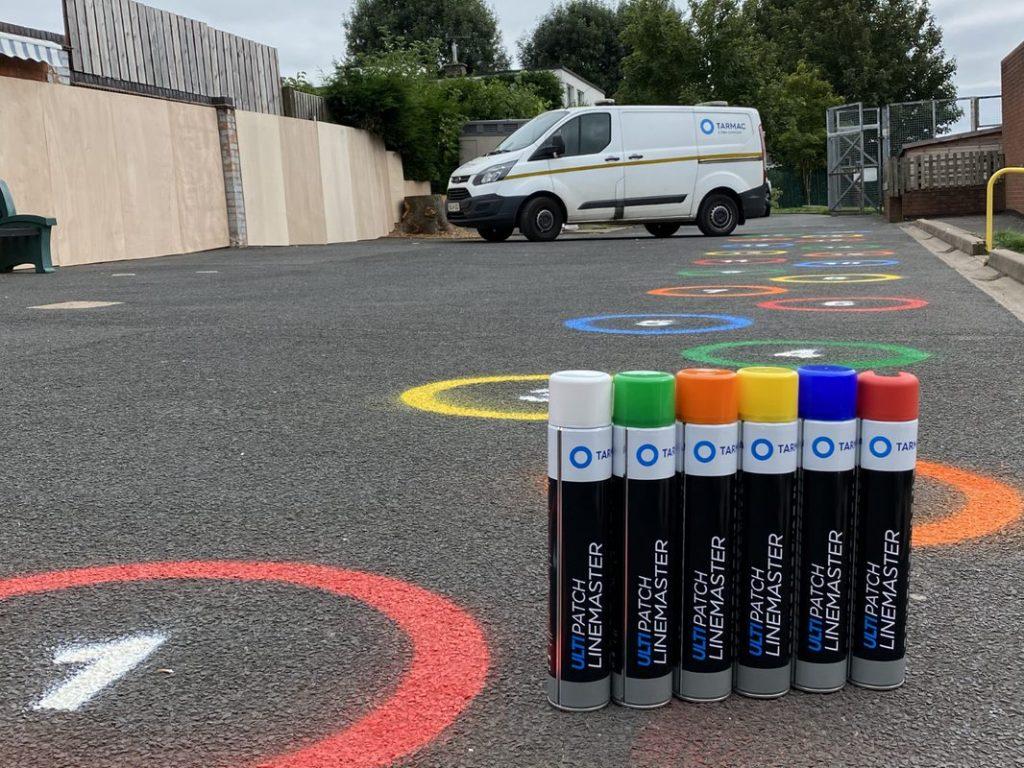 School children return to bright new playgrounds thanks to Tarmac