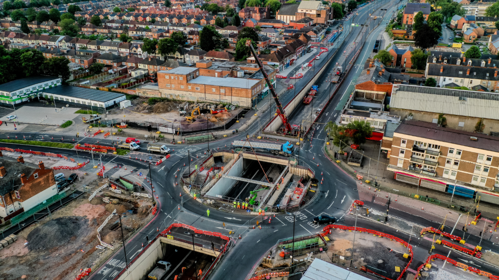 Tarmac safely carries out unique bridge installation as part of Perry Barr highways improvement scheme