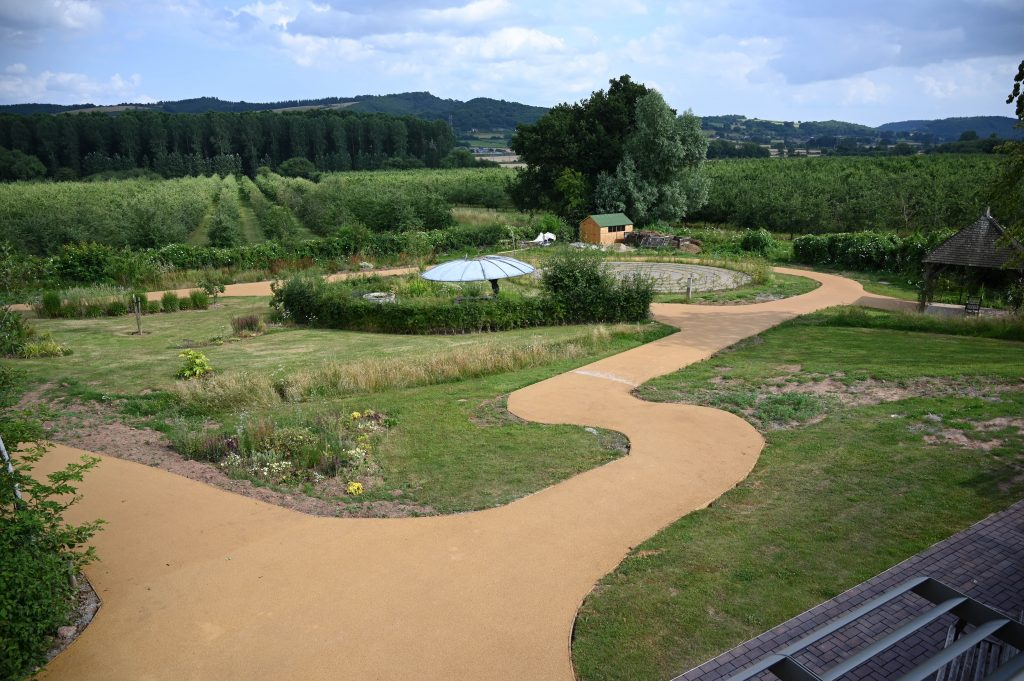 Tarmac donation helps create gardens of tranquillity for Herefordshire hospice patients
